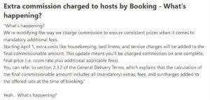 Verhoging commissie Booking